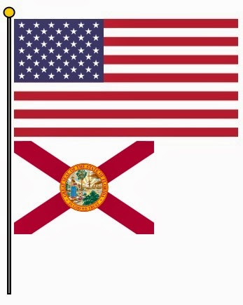50 Star Flag With Florida Flag